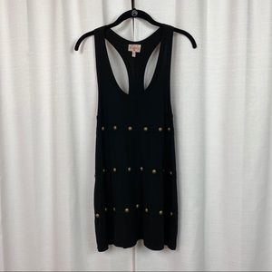 Plenty by Tracy Reese Black Embellished Tank Top